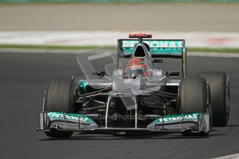 © 2012 Octane Photographic Ltd. Hungarian GP Hungaroring - Friday 27th July 2012 - F1 Practice 1. Mercedes W03 - Michael Schumacher. Digital Ref :
