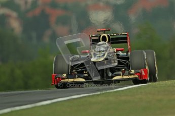 © 2012 Octane Photographic Ltd. Hungarian GP Hungaroring - Friday 27th July 2012 - F1 Practice 1. Lotus E20 - Kimi Raikkonen. Digital Ref : 0425lw7d9547