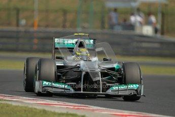 © 2012 Octane Photographic Ltd. Hungarian GP Hungaroring - Saturday 28th July 2012 - F1 Practice 3. Mercedes W03 - Nico Rosberg. Digital Ref : 0429lw1d6756