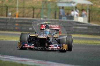 © 2012 Octane Photographic Ltd. Hungarian GP Hungaroring - Saturday 28th July 2012 - F1 Practice 3. Toro Rosso STR7 - Jean-Eric Vergne. Digital Ref : 0429lw1d6773
