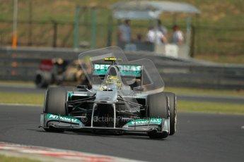 © 2012 Octane Photographic Ltd. Hungarian GP Hungaroring - Saturday 28th July 2012 - F1 Practice 3. Mercedes W03 - Nico Rosberg. Digital Ref : 0429lw1d6807