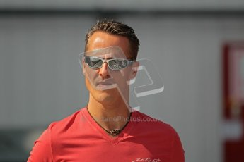 © 2012 Octane Photographic Ltd. Hungarian GP Hungaroring - Sunday 29th July 2012 - F1 Paddock. Mercedes - Michael Schumacher. Digital Ref : 0437lw1d7492