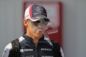 © 2012 Octane Photographic Ltd. Hungarian GP Hungaroring - Sunday 29th July 2012 - F1 Paddock. Williams - Pastor Maldonado. Digital Ref : 0437lw1d7527