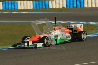 © 2012 Octane Photographic Ltd. Jerez Winter Test Day 1 - Tuesday 7th February 2012. Force India VJM05 - Paul di Resta. Digital Ref : 0217lw7d3066