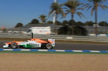 © 2012 Octane Photographic Ltd. Jerez Winter Test Day 1 - Tuesday 7th February 2012. Force India VJM05 - Paul di Resta. Digital Ref : 0217lw7d3086