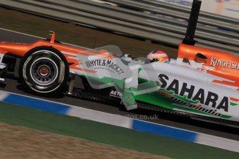 © 2012 Octane Photographic Ltd. Jerez Winter Test Day 1 - Tuesday 7th February 2012. Force India VJM05 - Paul di Resta. Digital Ref : 0217lw7d3607