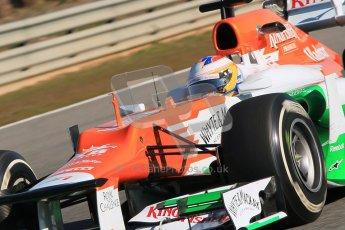 © 2012 Octane Photographic Ltd. Jerez Winter Test Day 1 - Tuesday 7th February 2012. Force India VJM05 - Paul di Resta. Digital Ref : 0217lw7d4163
