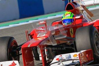 © 2012 Octane Photographic Ltd. Jerez Winter Test Day 1 - Tuesday 7th February 2012. Ferrari F2012 - Felipe Massa. Digital Ref : 0217lw7d4293