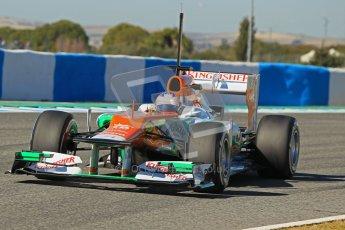 © 2012 Octane Photographic Ltd. Jerez Winter Test Day 1 - Tuesday 7th February 2012. Force India VJM05 - Paul di Resta. Digital Ref : 0217lw7d4318