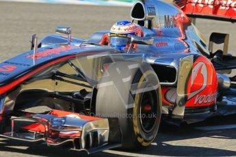 © 2012 Octane Photographic Ltd. Jerez Winter Test Day 1 - Tuesday 7th February 2012. McLaren MP4/27 - Jenson Button. Digital Ref : 0217lw7d4491