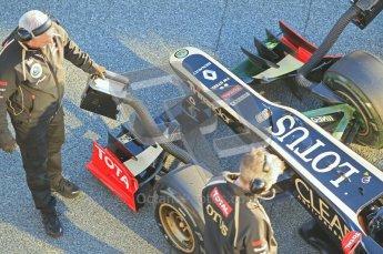 © 2012 Octane Photographic Ltd. Jerez Winter Test Day 2 - Wednesday 8th February 2012. Lotus E20 - Kimi Raikkonen. Digital Ref :  0218lw1d4977