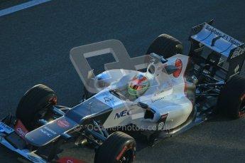 © 2012 Octane Photographic Ltd. Jerez Winter Test Day 2 - Wednesday 8th February 2012. Sauber C31 - Sergio Perez. Digital Ref : 0218lw1d5054