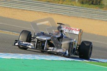 © 2012 Octane Photographic Ltd. Jerez Winter Test Day 2 - Wednesday 8th February 2012. Williams FW34 - Pastor Maldonado. Digital Ref : 0218lw1d5585