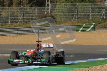© 2012 Octane Photographic Ltd. Jerez Winter Test Day 2 - Wednesday 8th February 2012. Force India VJM05 - Jules Bianchi. Digital Ref : 0218lw1d5862