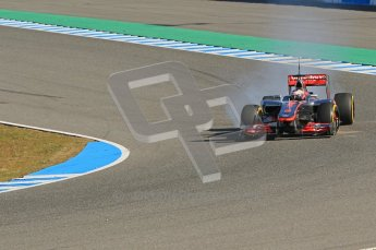 © 2012 Octane Photographic Ltd. Jerez Winter Test Day 2 - Wednesday 8th February 2012. McLaren MP4/27 - Jenson Button. Digital Ref : 0218lw1d6056