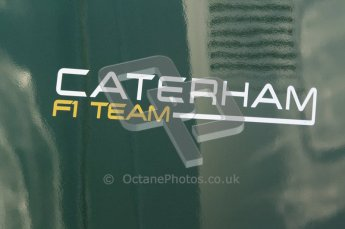 © 2012 Octane Photographic Ltd. Jerez Winter Test Day 2 - Wednesday 8th February 2012. Caterham F1 team sign. Digital Ref : 0218lw1d6070