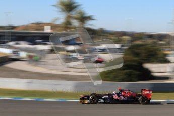 © 2012 Octane Photographic Ltd. Jerez Winter Test Day 2 - Wednesday 8th February 2012. Toro Rosso STR7 - Daniel Ricciardo. Digital Ref : 0218lw7d3553