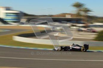 © 2012 Octane Photographic Ltd. Jerez Winter Test Day 2 - Wednesday 8th February 2012. Williams FW34 - Pastor Maldonado. Digital Ref :  0218lw7d3658