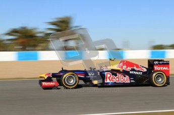 © 2012 Octane Photographic Ltd. Jerez Winter Test Day 2 - Wednesday 8th February 2012. Red Bull RB8 - Mark Webber. Digital Ref : 0218lw7d3759