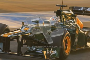 © 2012 Octane Photographic Ltd. Jerez Winter Test Day 3 - Thursday 9th February 2012. Caterham CT01 - Giedo van der Garde. Digital Ref : 0219lw1d6111