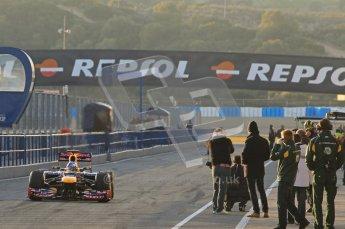 © 2012 Octane Photographic Ltd. Jerez Winter Test Day 3 - Thursday 9th February 2012. Red Bull RB8 - Sebastian Vettel. Digital Ref : 0219lw1d6118