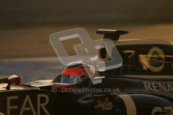 © 2012 Octane Photographic Ltd. Jerez Winter Test Day 3 - Thursday 9th February 2012. Lotus E20 - Romain Grosjean. Digital Ref : 0219lw1d6215