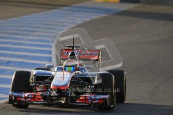 © 2012 Octane Photographic Ltd. Jerez Winter Test Day 3 - Thursday 9th February 2012. McLaren MP4/27 - Lewis Hamilton. Digital Ref : 0219lw1d6320