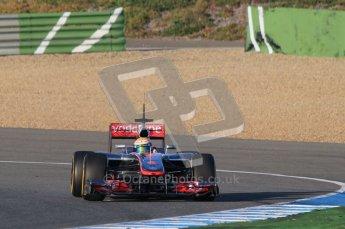© 2012 Octane Photographic Ltd. Jerez Winter Test Day 3 - Thursday 9th February 2012. McLaren MP4/27 - Lewis Hamilton. Digital Ref : 0219lw1d6525