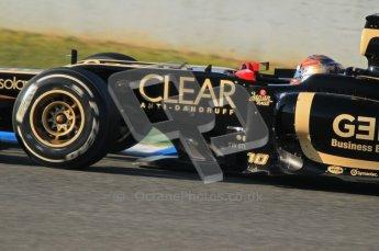 © 2012 Octane Photographic Ltd. Jerez Winter Test Day 3 - Thursday 9th February 2012. Lotus E20 - Romain Grosjean. Digital Ref : 0219lw1d6858
