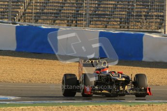 © 2012 Octane Photographic Ltd. Jerez Winter Test Day 3 - Thursday 9th February 2012. Lotus E20 - Romain Grosjean. Digital Ref : 0219lw1d7127
