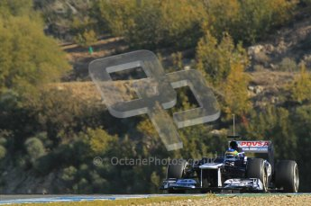 © 2012 Octane Photographic Ltd. Jerez Winter Test Day 3 - Thursday 9th February 2012. Williams FW34 - Bruno Senna. Digital Ref : 0219lw1d7518