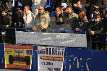 © 2012 Octane Photographic Ltd. Jerez Winter Test Day 3 - Thursday 9th February 2012. Crowds - Kubica fans. Digital Ref : 0219lw1d7717