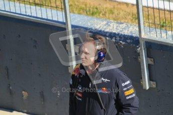 © 2012 Octane Photographic Ltd. Jerez Winter Test Day 3 - Thursday 9th February 2012. Red Bull - Christian Horner. Digital Ref : 0219lw1d7775