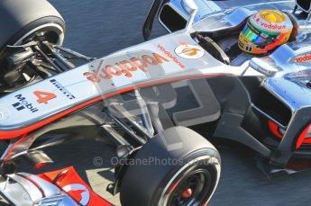 © 2012 Octane Photographic Ltd. Jerez Winter Test Day 3 - Thursday 9th February 2012. McLaren MP4/27 - Lewis Hamilton. Digital Ref : 0219lw1d7824