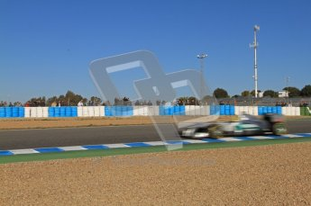 © 2012 Octane Photographic Ltd. Jerez Winter Test Day 3 - Thursday 9th February 2012. Mercedes MGP W02 - Nico Rosberg. Digital Ref : 0219lw7d3870