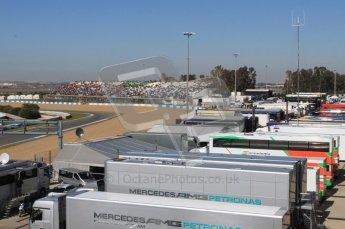 © 2012 Octane Photographic Ltd. Jerez Winter Test Day 3 - Thursday 9th February 2012. The Jerez testing paddock. Digital Ref : 0219lw7d3959