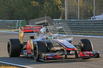 © 2012 Octane Photographic Ltd. Jerez Winter Test Day 4 - Friday 10th February 2012. McLaren MP4/27 - Lewis Hamilton. Digital Ref : 0221lw1d8093