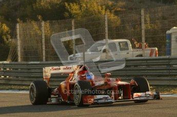 © 2012 Octane Photographic Ltd. Jerez Winter Test Day 4 - Friday 10th February 2012. Ferrari F2012 - Fernando Alonso. Digital Ref : 0221lw1d8105