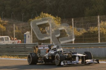 © 2012 Octane Photographic Ltd. Jerez Winter Test Day 4 - Friday 10th February 2012. Williams FW34 - Bruno Senna. Digital Ref :  0221lw1d8124