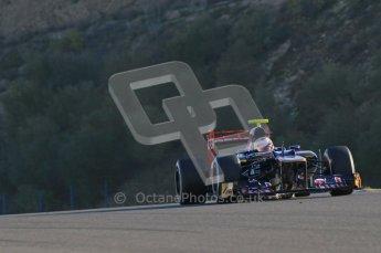© 2012 Octane Photographic Ltd. Jerez Winter Test Day 4 - Friday 10th February 2012. Toro Rosso STR7 - Jean-Eric Vergne. Digital Ref : 0221lw1d8294