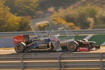 © 2012 Octane Photographic Ltd. Jerez Winter Test Day 4 - Friday 10th February 2012. Lotus E20 - Romain Grosjean. Digital Ref : 0221lw1d8793