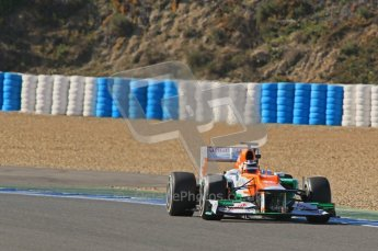 © 2012 Octane Photographic Ltd. Jerez Winter Test Day 4 - Friday 10th February 2012. Force India VJM05 - Nico Hulkenberg. Digital Ref : 0221lw1d9409