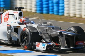 © 2012 Octane Photographic Ltd. Jerez Winter Test Day 4 - Friday 10th February 2012. Sauber C31 - Kamui Kobayashi. Digital Ref : 0221lw1d9746