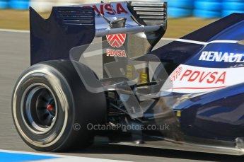 © 2012 Octane Photographic Ltd. Jerez Winter Test Day 4 - Friday 10th February 2012. Williams FW34 - Bruno Senna. Digital Ref : 0221lw1d9783
