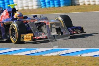 © 2012 Octane Photographic Ltd. Jerez Winter Test Day 4 - Friday 10th February 2012. Toro Rosso STR7 - Jean-Eric Vergne. Digital Ref : 0221lw1d9802