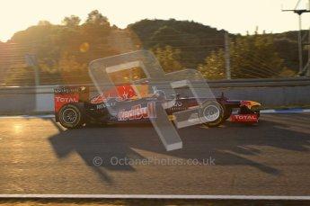 © 2012 Octane Photographic Ltd. Jerez Winter Test Day 4 - Friday 10th February 2012. Red Bull RB8 - Sebastian Vettel. Digital Ref : 0221lw7d3986