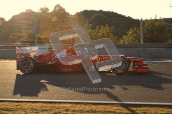 © 2012 Octane Photographic Ltd. Jerez Winter Test Day 4 - Friday 10th February 2012. Ferrari F2012 - Fernando Alonso. Digital Ref : 0221lw7d4138