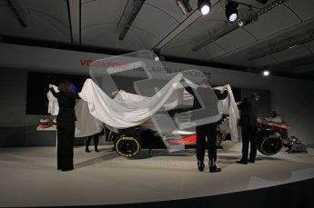 © 2012 Octane Photographic Ltd. Vodafone McLaren Mercedes Technical Car Launch MP4/27  Digital Ref : 0216lw1d2324