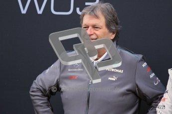© 2012 Octane Photographic Ltd. Barcelona Winter Test 1 Day 1 - Tuesday 21st February 2012. Mercedes W03 Pit Lane Launch. Digital Ref : 0225lw1d5842