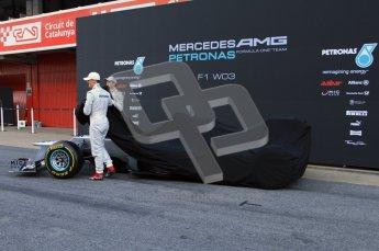 © 2012 Octane Photographic Ltd. Barcelona Winter Test 1 Day 1 - Tuesday 21st February 2012. Mercedes W03 Pit Lane Launch. Digital Ref : 0225lw7d4872